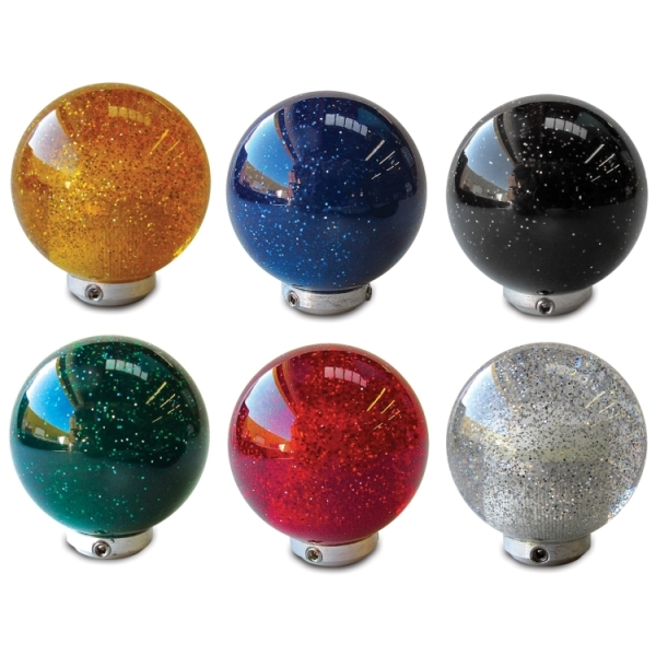 Metal Flake Shift Knobs 2-inch Diameter Ball: Six Colors
