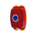 Old School Glass Tail Light Lens with Blue Dot