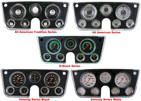 67-72 Chevy Truck Package - 6 Gauge Clock & Dash Bezel Set | 72 Chevy Dash Wiring |  | Mooneyes
