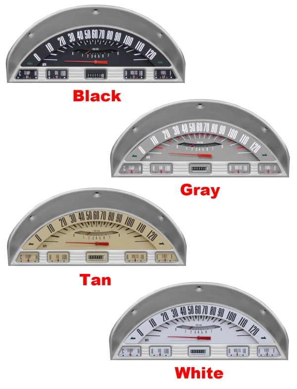 56 Ford F 100 Truck Package Gauge Panel