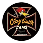Clay Smith Genuine Black Round Metal Sign