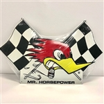 CLAY SMITH CHECKERED FLAG METAL SIGN