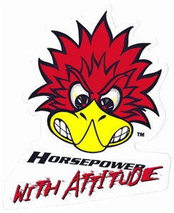 Mr Horsepower with Attitude Sticker