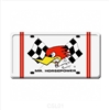 Clay Smith Mr. Horsepower License Plate - Checkered Flags