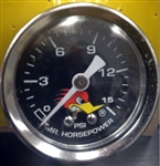 Clay Smith Liquid Pressure Gauge 0-15 PSI - Black