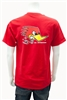 Clay Smith Mr. Horsepower Traditonal Design T-Shirt - Red