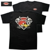 Mr. Horsepower Vintage Checkered Flags T-shirt - Black