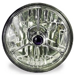 "Tri-bar 5.75"" Halogen Diamond Cut Headlight"