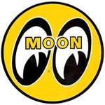 "MOON Eyeball Logo 3"" Yellow Decal"