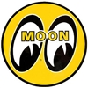 "MOON Eyeball Logo 12"" Yellow Decal"