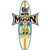 Go! with MOON Surfboard Decal