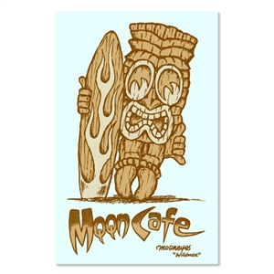 MOON Cafe Tiki Sticker