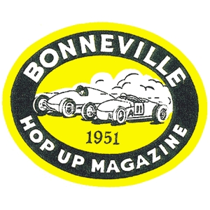 Bonneville 1951 Hop Up Magazine Decal