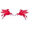 Mobil Flying Horse Decal - Pair