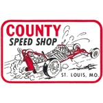 County Speed Shop Decal