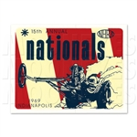 15th ANNUAL NHRA INDIANAPOLIS NATIONALS 1969 STICKER