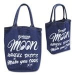 MOON Wheel Discs Denim Tote Bag