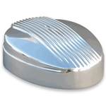 Polished 4BBL Finned Teardrop Air Cleaner