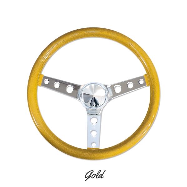 California Metal Flake 3 Hole Spoke 13 Inch Steering Wheels