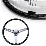 "MOONEYES ORIGINAL ""Finger Grip"" Steering Wheel 15"" Black (Vinyl Grip)"