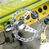 "Classic Silver Chain Link Steering Wheel (9.84"")"