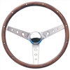 Walnut Brushed Spoke Steering Wheel