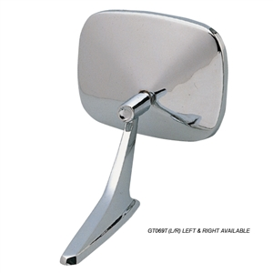 GT069 Chromed Rectangle Style Mirror