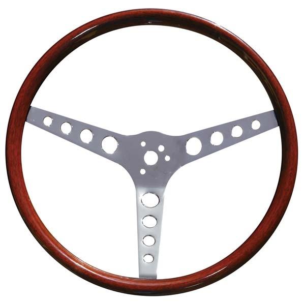 ispacegoa.com 370mm Dia 3 Round Hole Spokes Classic Wooden ...