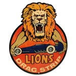 Lion's Drag Strip Sign