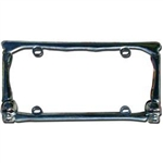 License Frame with Lighted Skulls