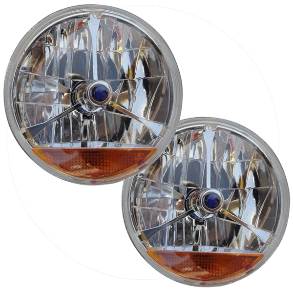7 Quot Halogen Headlights W Amber Turn Signal
