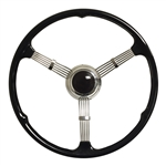 1935-37 Style Banjo Steering Wheel Kit | Black Button