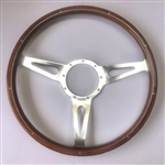 "WOOD WHEEL 15"" WALNUT 3 SPOKE"