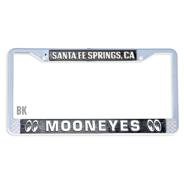 MOONEYES Santa Fe Springs License Frame with Black Recess