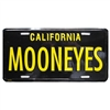 Black/Yellow CA License Plate - MOONEYES