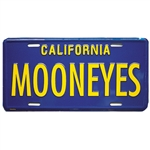 Blue/Yellow CA License Plate - MOONEYES