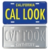 Blue/Yellow CA License Plate - CAL LOOK