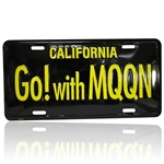 Black/Yellow License Plate - Go! with MOON