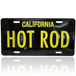 Black/Yellow License Plate - HOT ROD