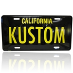 Black/Yellow License Plate - KUSTOM