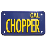 "Blue Plate ""CHOPPER"" for MC"