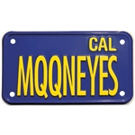 "Blue Plate ""MQQNEYES"" for MC"