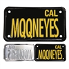 "Black Plate ""MQQNEYES"" for MC"