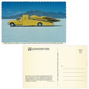Mooneyes USA Postcard - MOON Streamliner Photo