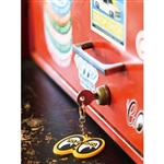 MOON Eyes Logo Key Ring - Yellow