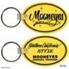 Mooneyes Oval Rubber Keychain - Yellow