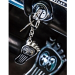 MOONEYES Barefoot Gas Pedal Metal Key Ring