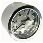 Engine-Turned FACIA Pressure Gauge 0-100 lbs