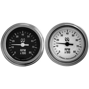 "2"" In-Dash Tachometer (White or Black)"