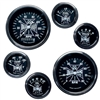 MOON Iron Cross 6 Gauge Set - Black Face